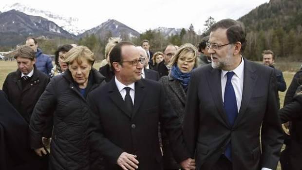Personas físicas: Hollande y Rajoy evitan hablar de Trump entre las carcajadas de los periodistas