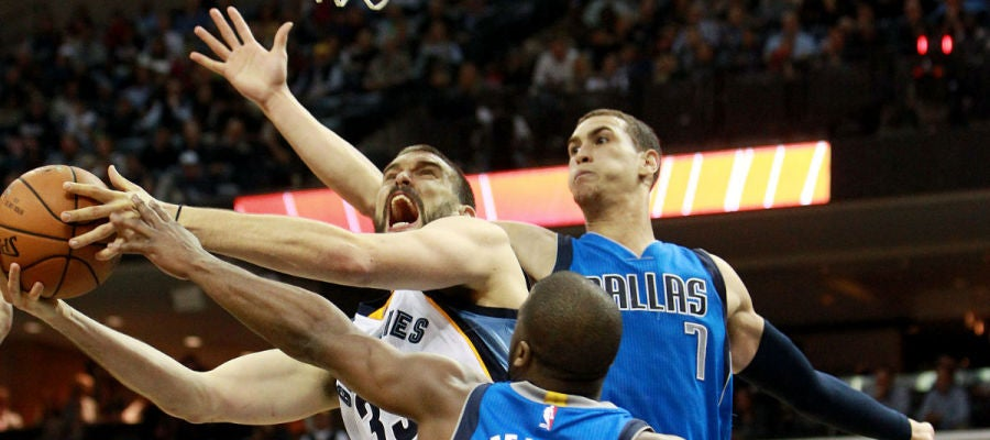 Marc Gasol, en acción ante Dallas