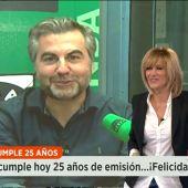 Frame 8.746528 de: Susanna Griso felicita a Carlos Alsina y Onda Cero por su 25 aniversario
