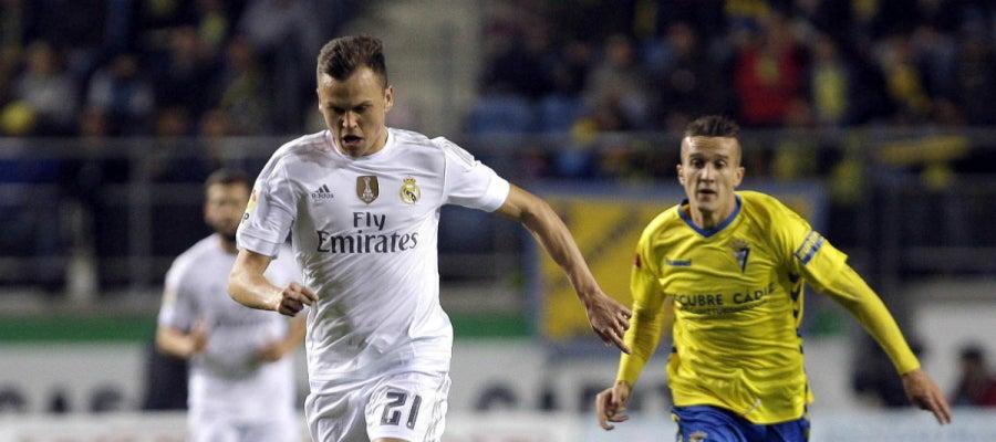 Denis Cheryshev, durante le partido contra el Cádiz
