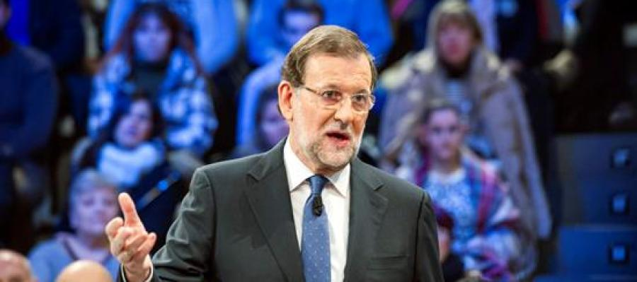 Mariano Rajoy durante su intervención en el programa de La Sexta, 'La calle pregunta'