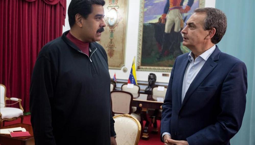 Zapatero con Maduro en Miraflores