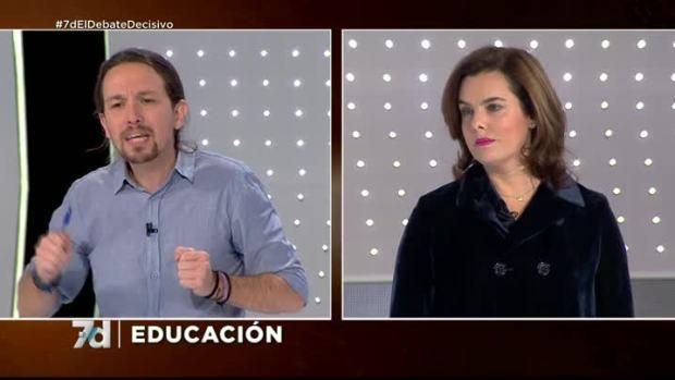 Rifirrafe entre Iglesias y Santamaría: ¿Tiene la educación el mismo nivel que los derechos civiles?