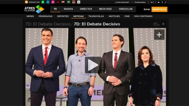 El Debate Decisivo en Atresplayer
