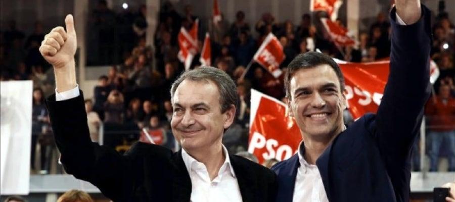 Zapatero y Pedro Sánchez