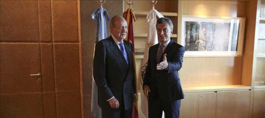 Mauricio Macri con el Rey Juan Carlos.