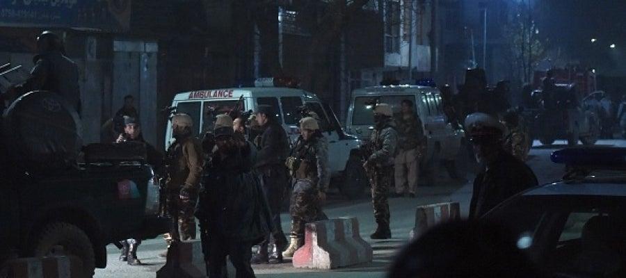 Fuerzas de seguridad desplegadas en Kabul