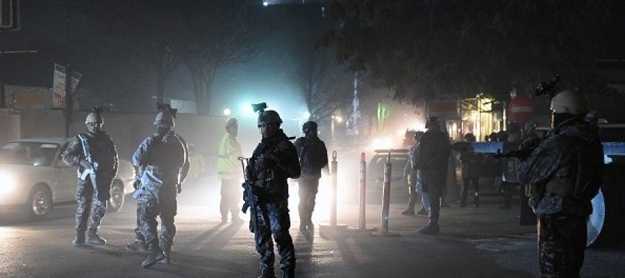 Fuerzas de seguridad en Kabul