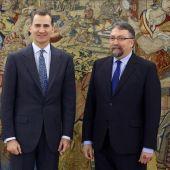 El Rey Felipe VI ha recibido al portavoz de Foro Asturias, Isidro Martínez Oblanca