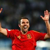 Marchena celebra la Eurocopa conseguida con España en 2008