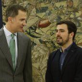 El Rey Felipe VI con Alberto Garzón