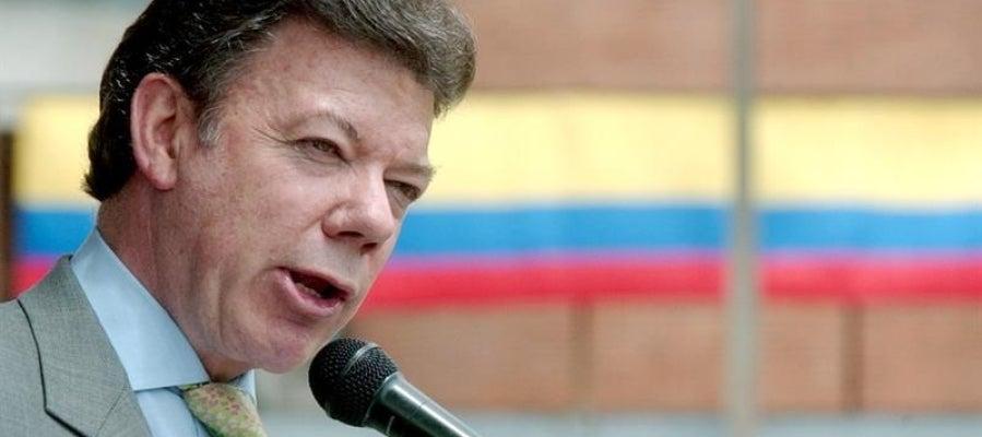 El presidente colombiano, Juan Manuel Santos