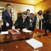 El presidente de Les Corts, Enric Morera