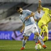 Momento del partido entre el Celta de Vigo y el Villarreal