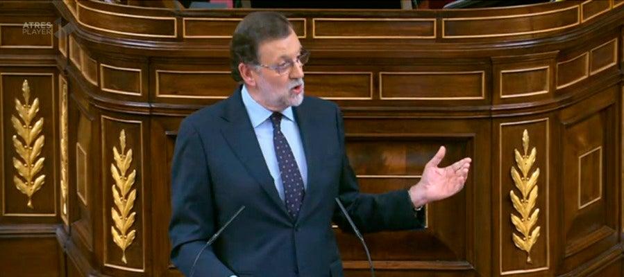 Mariano Rajoy en el segundo debate de investidura