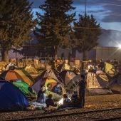 Campamento de refugiados en Idomeni
