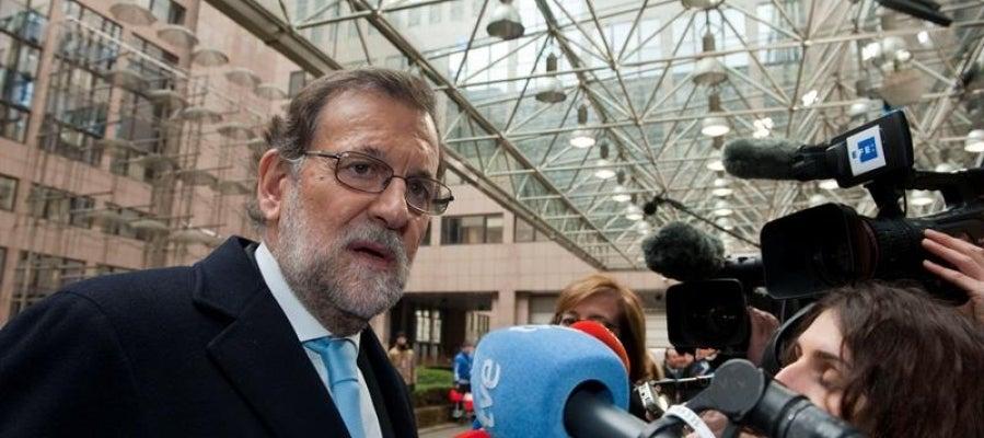 El presidente del Gobierno en funciones, Mariano Rajoy, en Bruselas