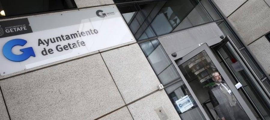 Imagen de la entrada al Ayuntamiento de Getafe