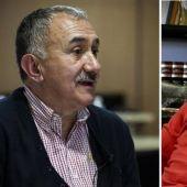 Los candidatos Josep María Álvarez y Miguel Ángel Cilleros.