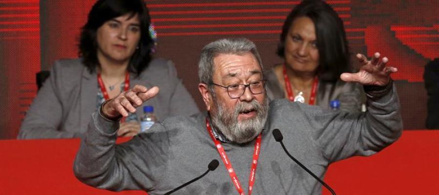 El secretario general de UGT, Cándido Méndez, durante su intervención en el 42 Congreso Confederal de UGT en Madrid.