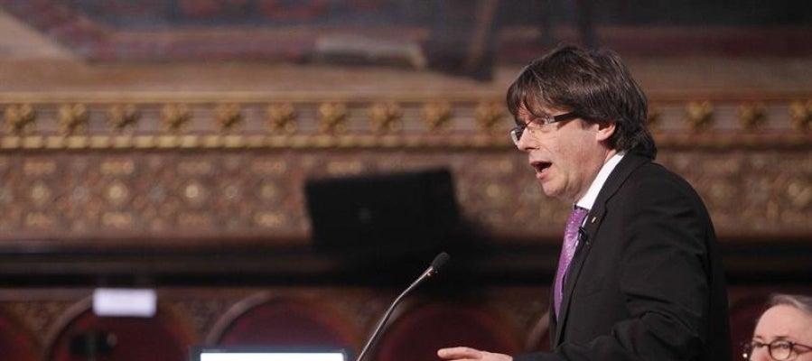 El presidente de la Generalitat catalana, Carles Puigdemont