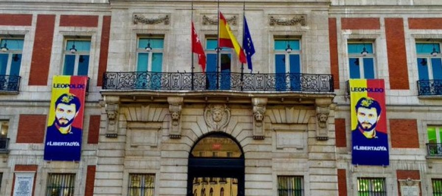 Fachada de la Real Casa de Correos, sede de la Presidencia de la Comunidad de Madrid