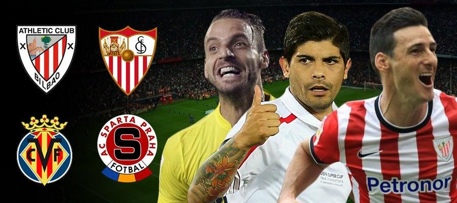 Athletic-Sevilla y Villarreal-Sparta Praga
