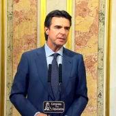 El ministro en funciones, José Manuel Soria en el Congreso