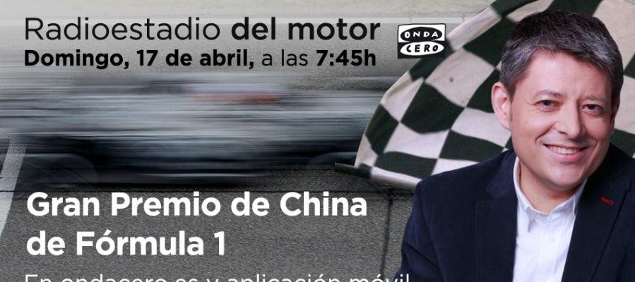 Retransmisión del GP de China de F1 en Radioestadio del motor