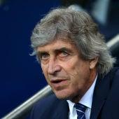 El entrenador Manuel Pellegrini