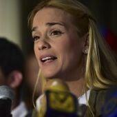 Lilian Tintori, la esposa del encarcelado opositor venezolano Leopoldo López