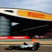 Rosberg rueda en China