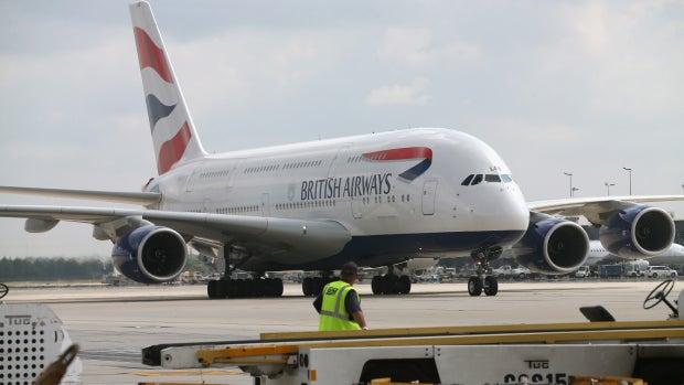 Un avión de la aerolínea British Airways