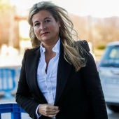 Virginia López Negrete ante los juzgados de Palma