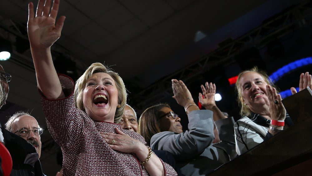 La demócrata Hillary Clinton se hizo con la victoria en Nueva York