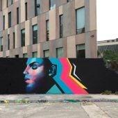 Graffiti dedicado a Prince en Barcelona