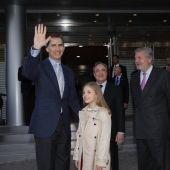 El Rey Felipe en el Santiago Bernabéu con la infanta Sofía