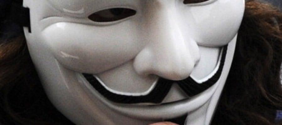 Persona con la máscara de Anonymous