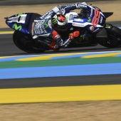 Lorenzo, en el trazado de Le Mans