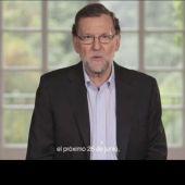Mariano Rajoy, en el vídeo de precampaña.