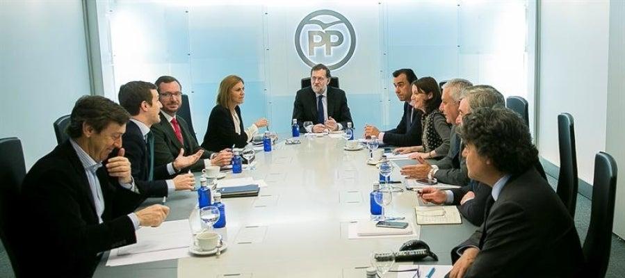 Mariano Rajoy durante la reunión del Comité de Dirección del partido