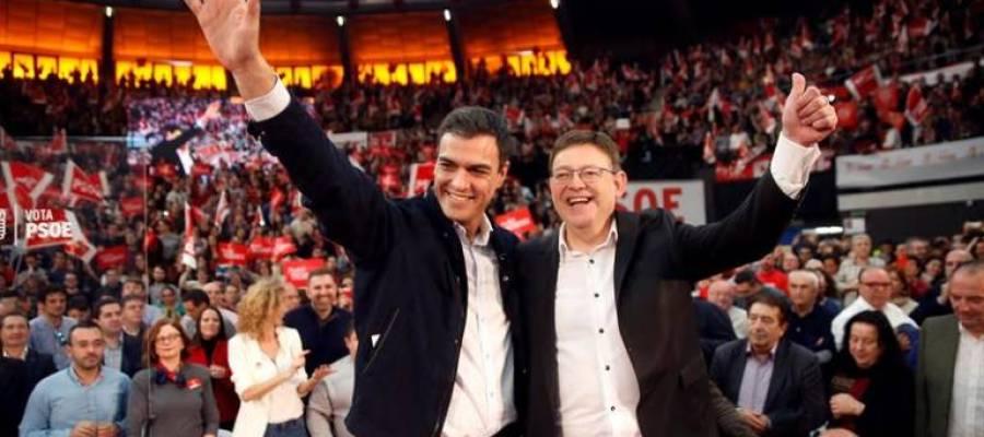 Pedro Sánchez y Ximo Puig, en un acto de campaña