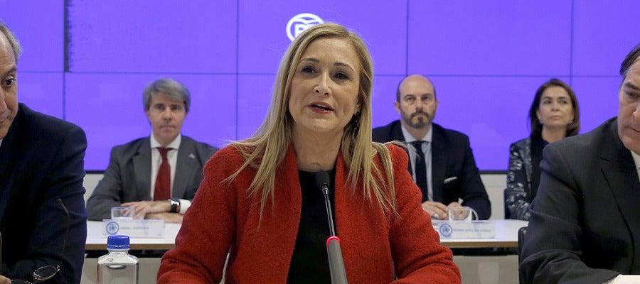 Cristina Cifuentes en un acto del PP