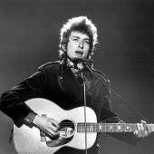 Bob Dylan, durante un concierto en la gira de 1967