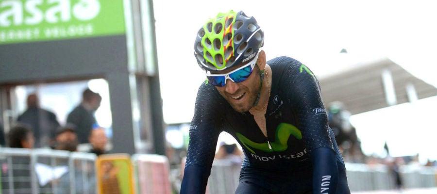 Valverde, en el Giro de Italia