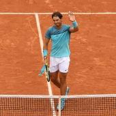 Rafa Nadal celebra su victoria ante Groth