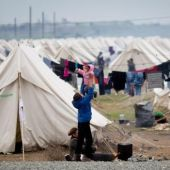 Imagen del campo de refugiados de Idomeni.