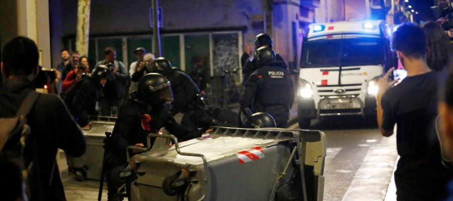Disturbios en el barrio barcelonés de Gràcia