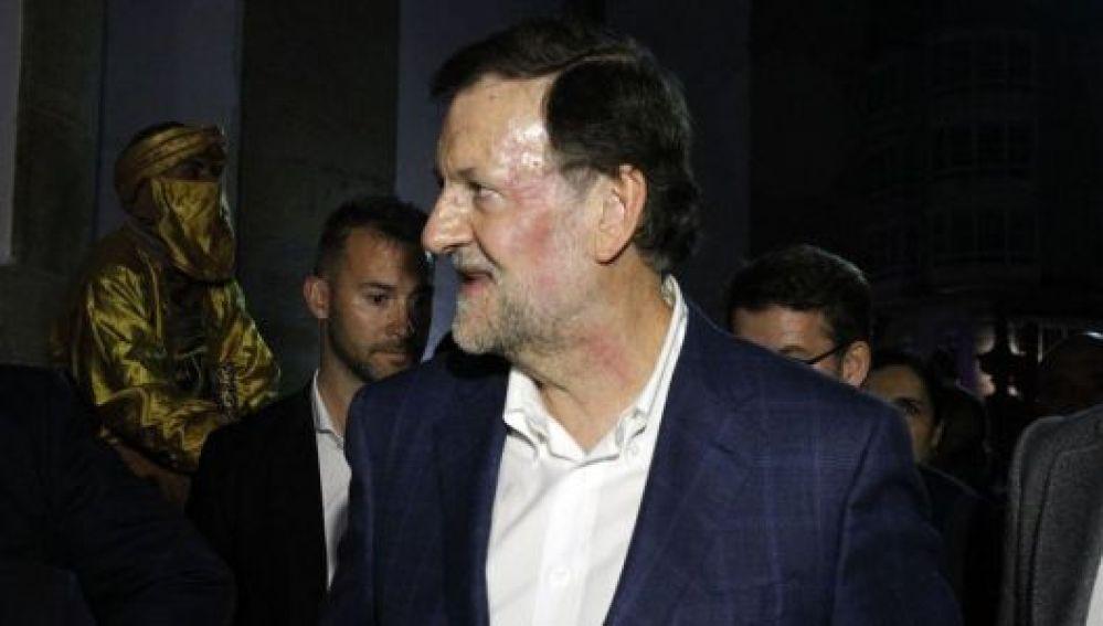 Mariano Rajoy, tras la agresión sufrida en Pontevedra