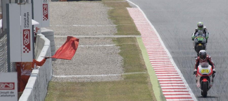 Los entrenamientos de Moto 2, suspendidos tras el accidente de Luis Salom